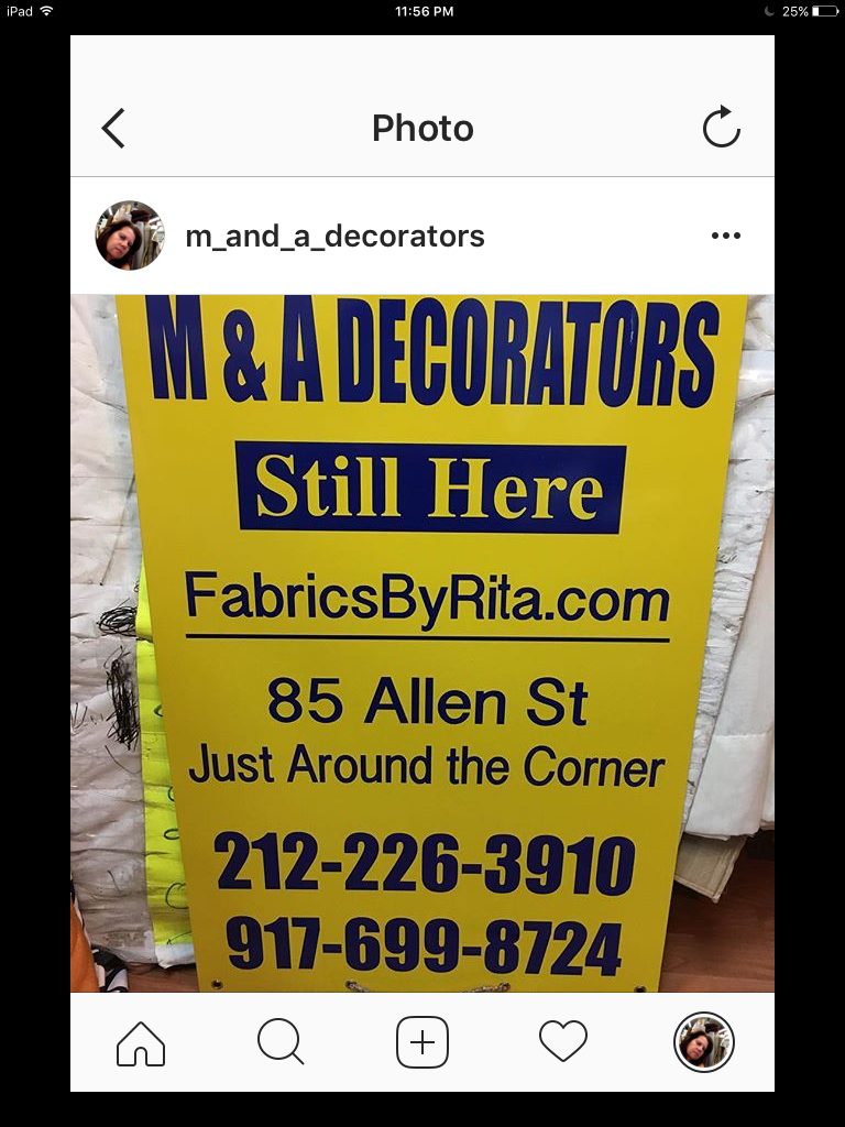 M & A Decorators - furniture store  | Photo 5 of 5 | Address: 85 Allen St, New York, NY 10002, USA | Phone: (212) 226-3910