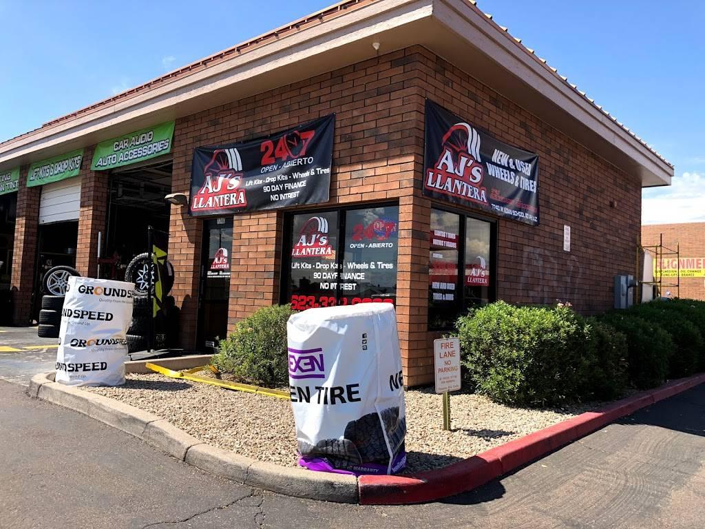 AJs Llantera - car repair  | Photo 1 of 10 | Address: 7740 W Indian School Rd suite 1, Phoenix, AZ 85033, USA | Phone: (623) 332-9063