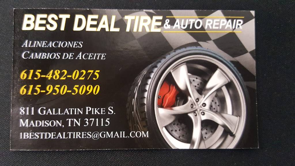 Best deal auto sales and service inc - car repair    Photo 5 of 6   Address: 811 Gallatin Pike S, Madison, TN 37115, USA   Phone: (615) 738-6049