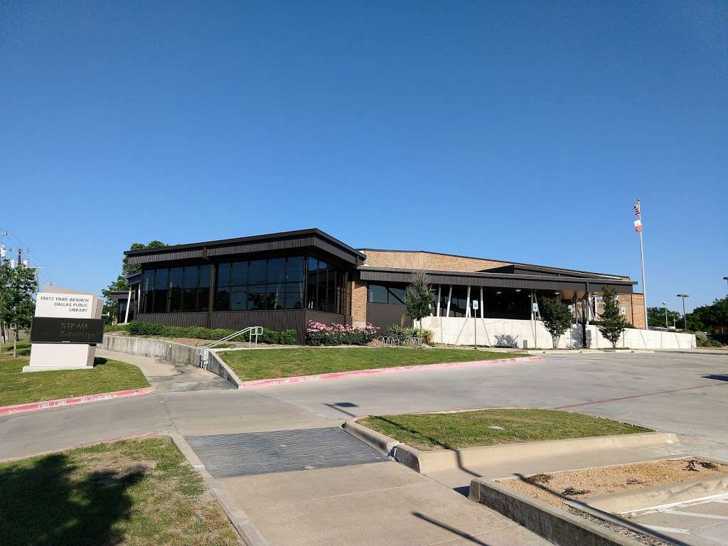Fretz Park Branch Library - library  | Photo 1 of 10 | Address: 6990 Belt Line Rd, Dallas, TX 75254, USA | Phone: (214) 670-6421