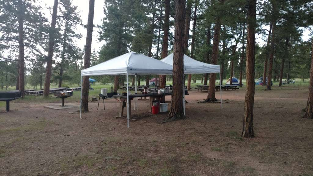 Pike Community Group Campground - campground    Photo 5 of 10   Address: CO-67, Woodland Park, CO 80863, USA   Phone: (719) 636-1602