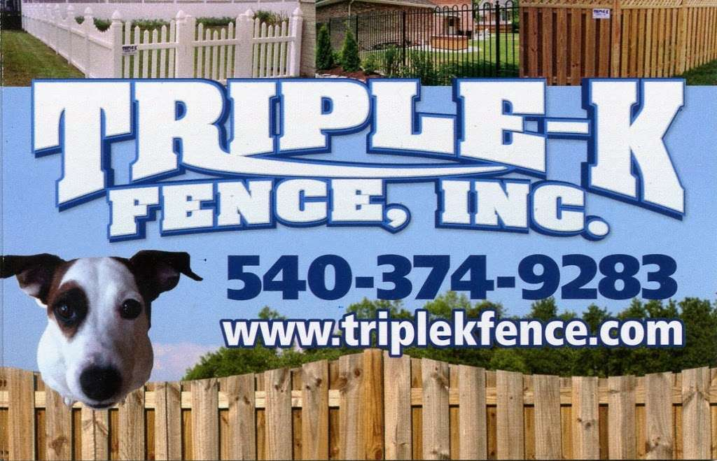 Triple K Fence Inc - store  | Photo 5 of 7 | Address: 32 Joseph Mills Dr, Fredericksburg, VA 22408, USA | Phone: (540) 374-9283