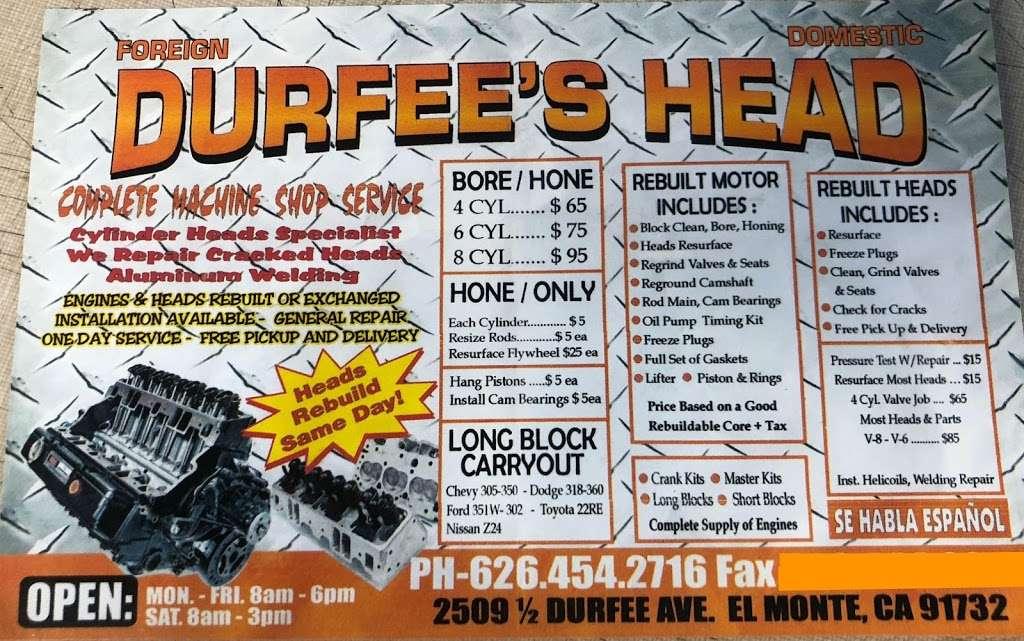 Durfees Head & Auto Repair - car repair  | Photo 1 of 1 | Address: 2509 Durfee Ave, El Monte, CA 91732, USA | Phone: (626) 454-2716