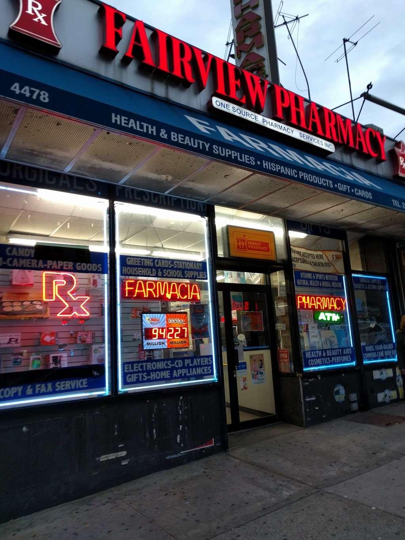 Fairview Pharmacy - pharmacy  | Photo 1 of 1 | Address: 4480 Broadway, New York, NY 10040, USA | Phone: (212) 567-3384