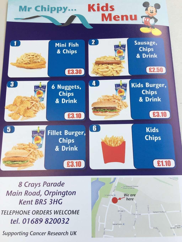 Mr chippy - meal takeaway    Photo 6 of 10   Address: 8 Crays Parade Main Road, Orpington, Orpington kent BR5 3HG, UK   Phone: 01689 820032