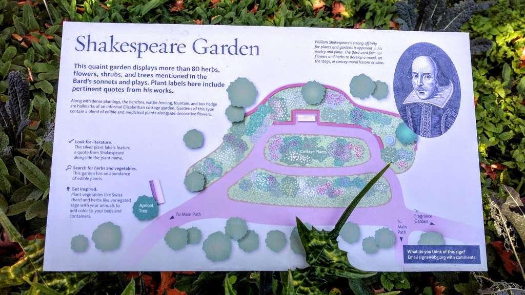 Shakespeare Garden - park  | Photo 8 of 8 | Address: 990 Washington Ave, Brooklyn, NY 11225, USA | Phone: (718) 623-7200