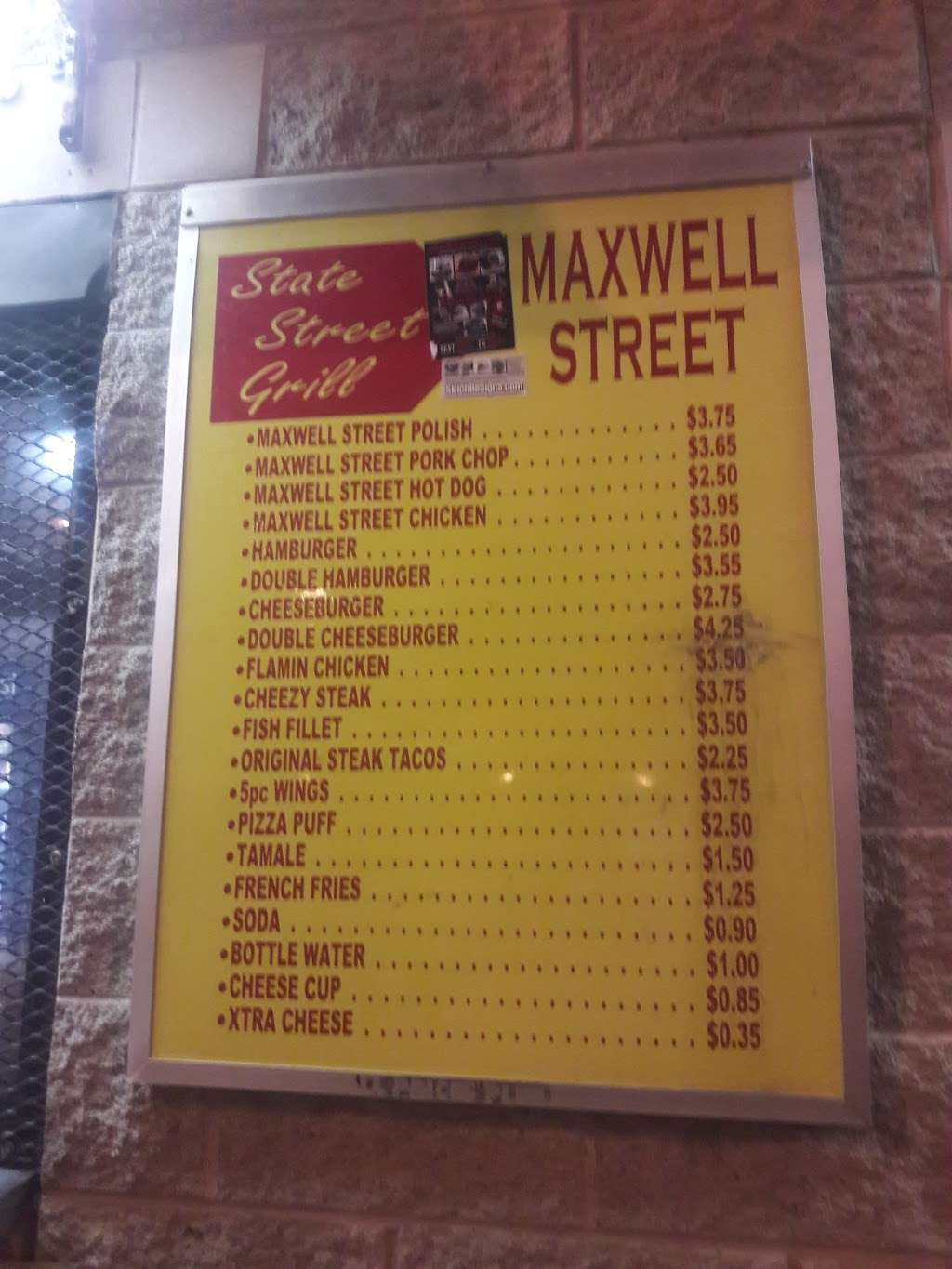 Maxwell Street Grill - restaurant  | Photo 4 of 10 | Address: 7445 S State St, Chicago, IL 60619, USA | Phone: (773) 487-7445