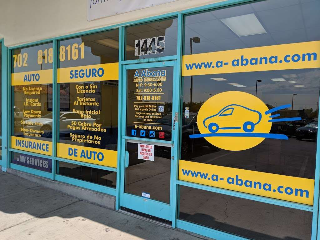 A Abana Auto Insurance - insurance agency  | Photo 3 of 6 | Address: 1445 N Jones Blvd, Las Vegas, NV 89108, USA | Phone: (702) 818-8161