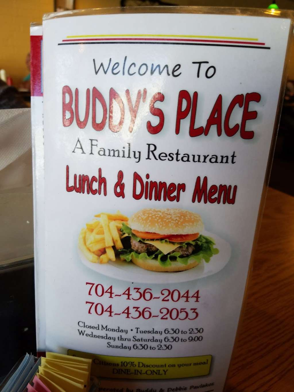 Buddys Place - restaurant  | Photo 10 of 10 | Address: 7698, 1470 S Main St, Mt Pleasant, NC 28124, USA | Phone: (704) 436-2044