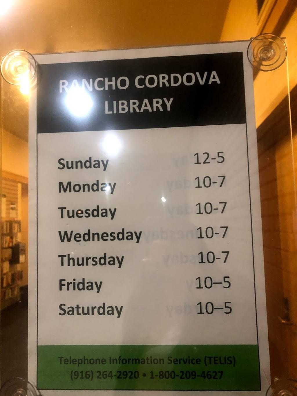 Rancho Cordova Library - library    Photo 4 of 5   Address: 9845 Folsom Blvd, Sacramento, CA 95827, USA   Phone: (916) 264-2920