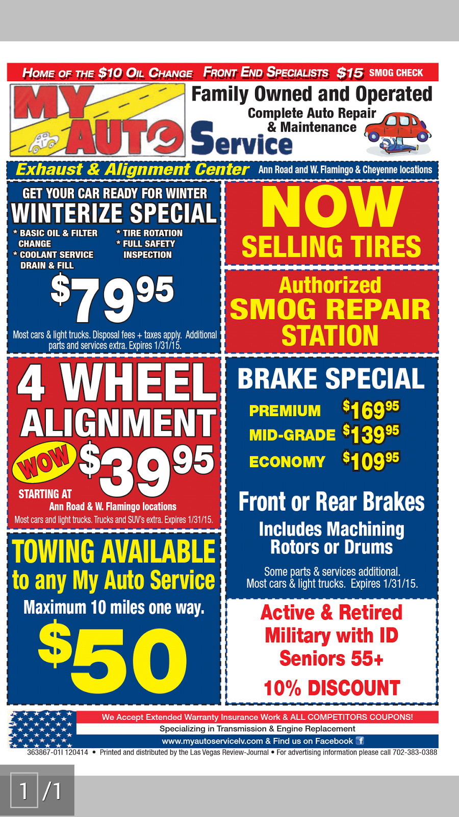 My Auto Service 2 - car repair  | Photo 2 of 3 | Address: 6104 W Cheyenne Ave, Las Vegas, NV 89108, USA | Phone: (702) 228-5432