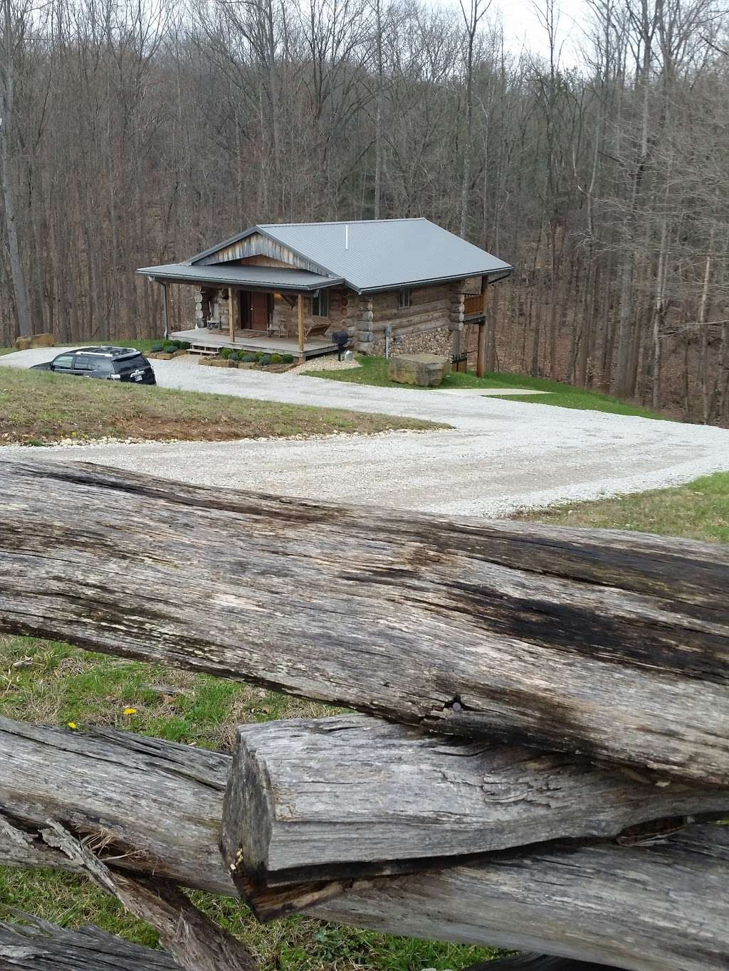 Antler Log Cabins - real estate agency    Photo 6 of 10   Address: 8747 E State Rd 45, Unionville, IN 47468, USA   Phone: (812) 339-6547