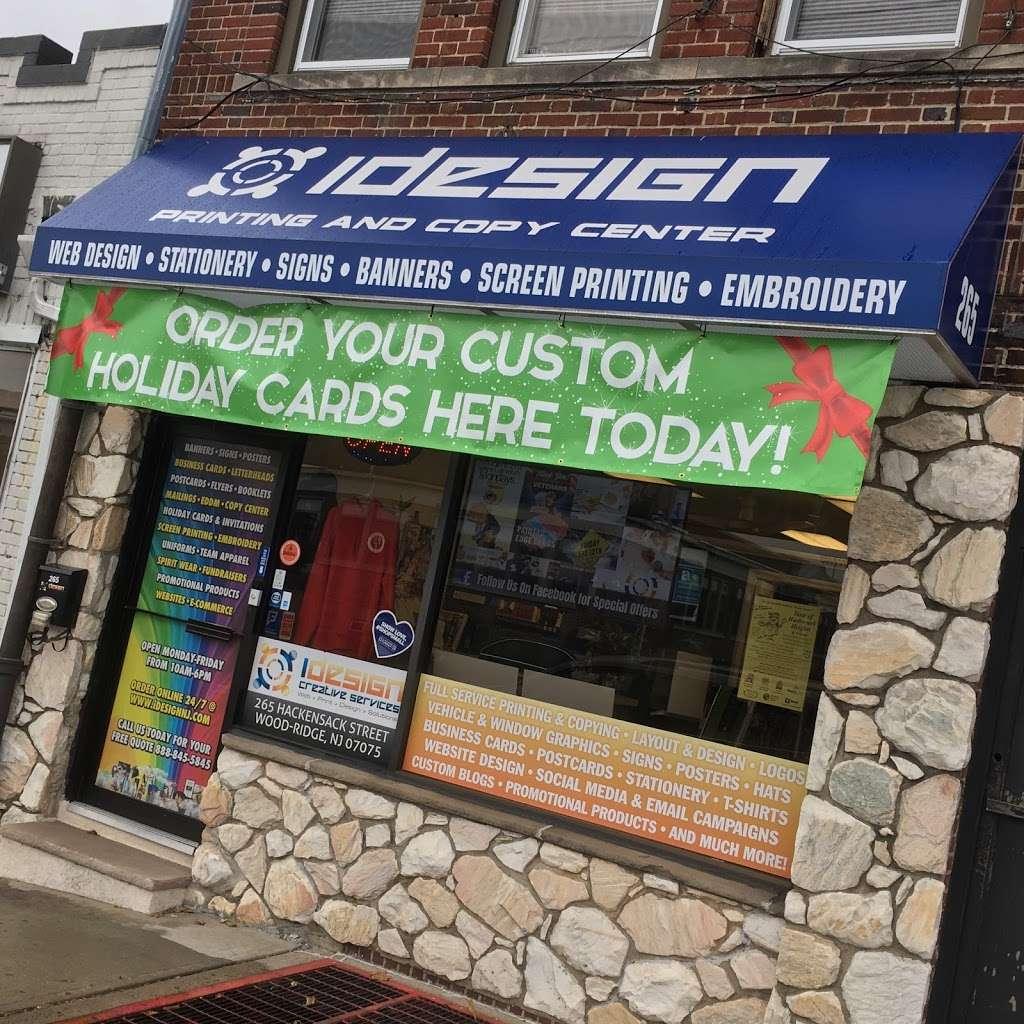 iDesign Printing and Copy Center - store    Photo 9 of 10   Address: 265 Hackensack St, Wood-Ridge, NJ 07075, USA   Phone: (201) 298-3062