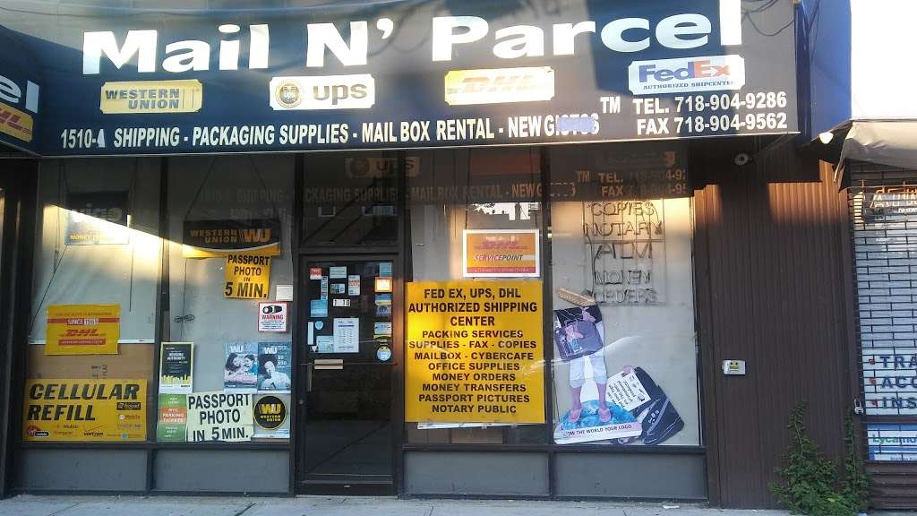 Mail N Parcel - post office  | Photo 1 of 3 | Address: 1510 Castle Hill Ave, Bronx, NY 10462, USA | Phone: (718) 904-9286