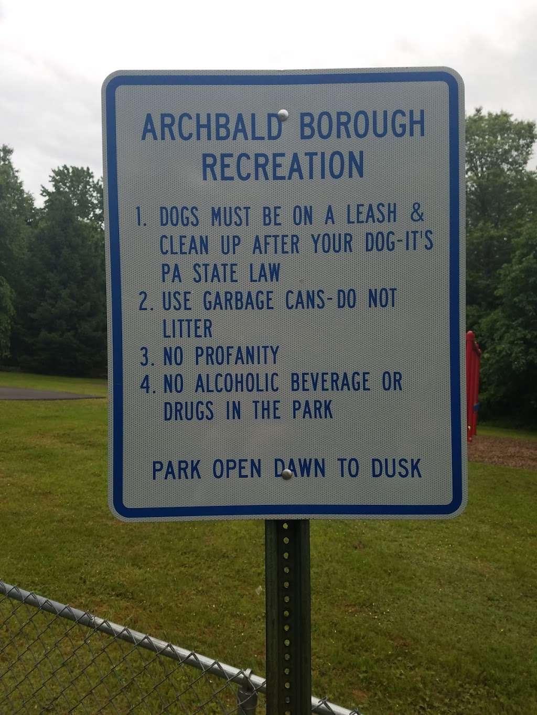 Archbald Borough Recreation Park - Nebraska Section - park  | Photo 1 of 2 | Address: 400-498 Lackawanna St, Jermyn, PA 18433, USA | Phone: (570) 876-1800