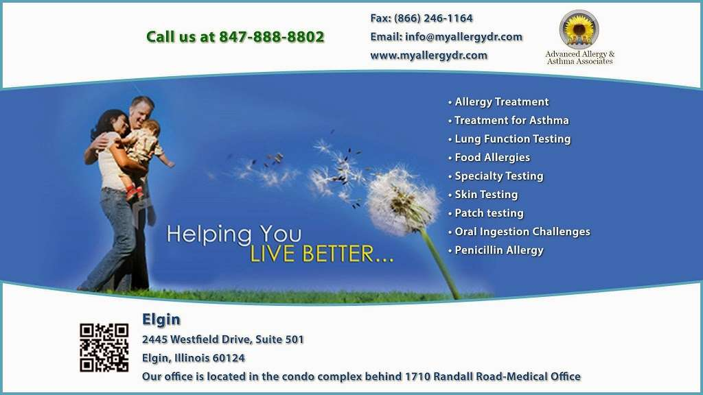 Advanced Allergy & Asthma Associates-Dr. Noga Askenazi - doctor  | Photo 6 of 6 | Address: 2445 Westfield Dr #501, Elgin, IL 60124, USA | Phone: (847) 888-8802