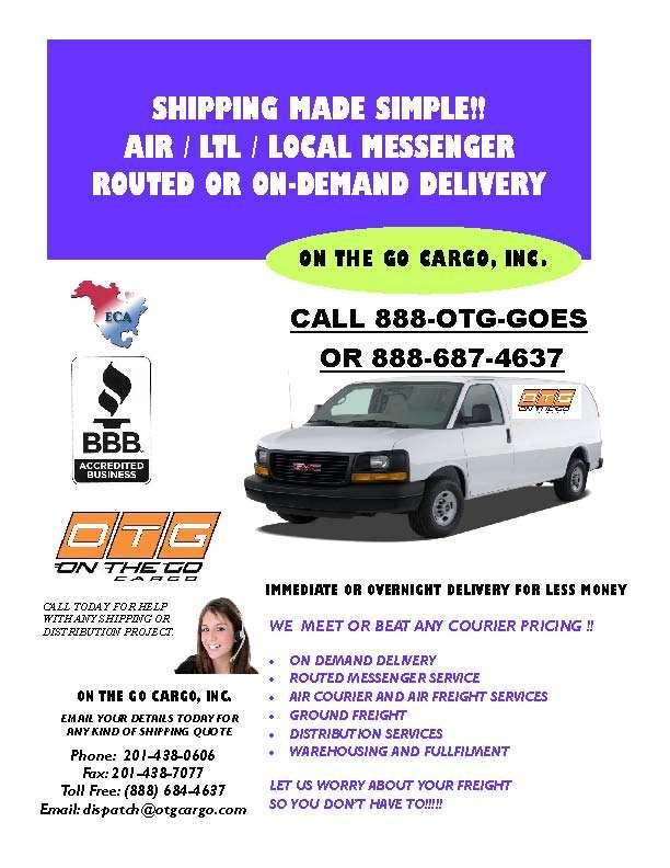 On The Go Cargo, Inc. - moving company  | Photo 6 of 7 | Address: 463 Barell Ave, Carlstadt, NJ 07072, USA | Phone: (201) 438-0606