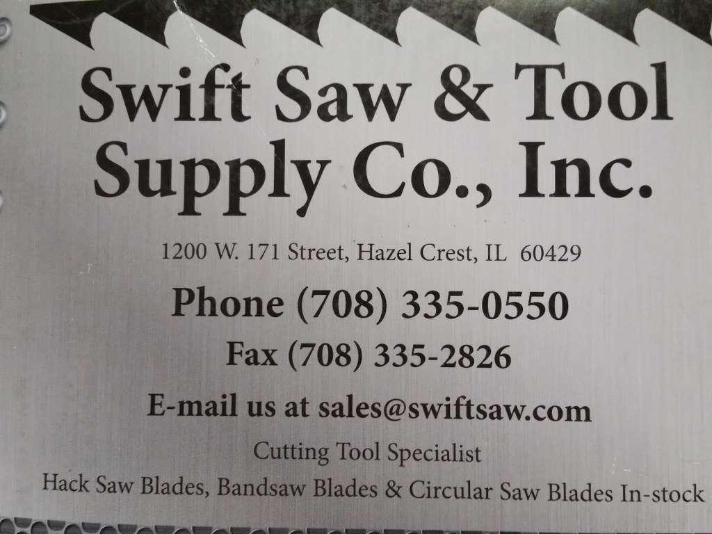 Swift Saw & Tool Supply Co - store  | Photo 1 of 1 | Address: 1200 171st St, Hazel Crest, IL 60429, USA | Phone: (708) 335-0550