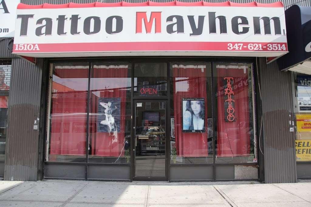 Tattoo Mayhem - store  | Photo 2 of 10 | Address: 1510-A Castle Hill Ave, Bronx, NY 10462, USA | Phone: (347) 621-3514