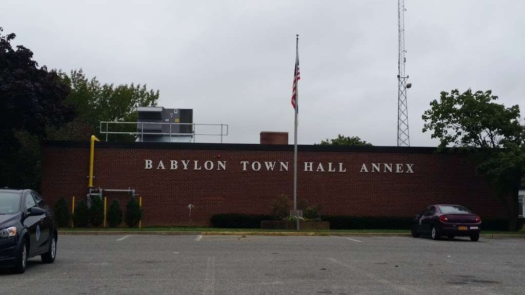 Babylon Town Hall Annex - city hall    Photo 1 of 1   Address: 281 Phelps Ln, North Babylon, NY 11703, USA   Phone: (631) 422-7600