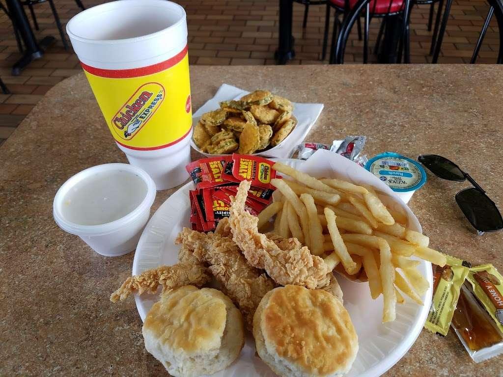 Chicken Express - restaurant    Photo 1 of 10   Address: 7300 Garth Rd, Baytown, TX 77521, USA   Phone: (281) 421-8400
