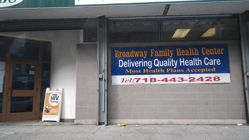 Broadway Family Health Center - hospital    Photo 2 of 2   Address: 1238 Broadway #D, Brooklyn, NY 11221, USA   Phone: (718) 443-2428