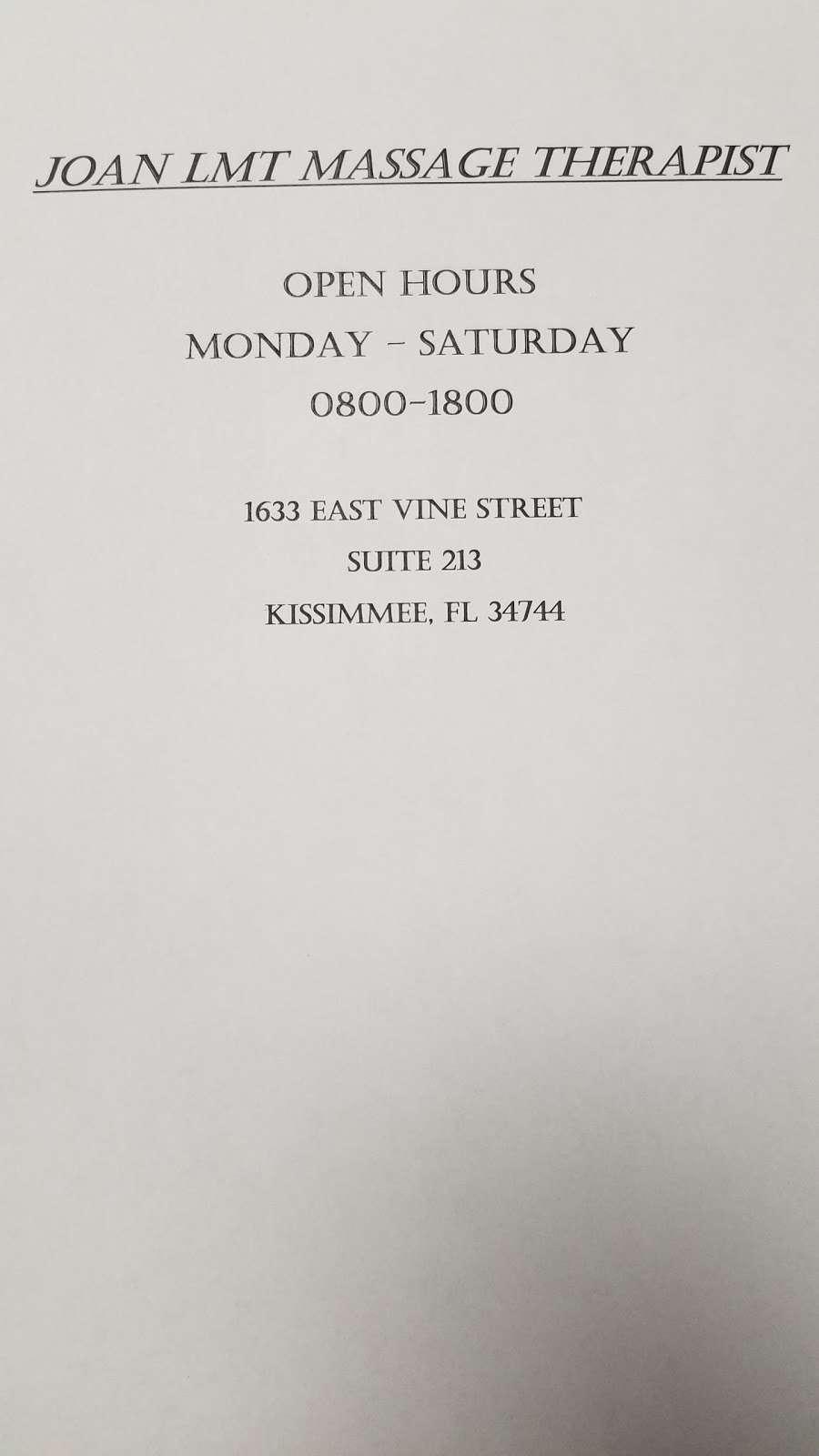 Joan LMT - spa  | Photo 8 of 8 | Address: 1633 E Vine St, Kissimmee, FL 34744, USA | Phone: (407) 489-1687