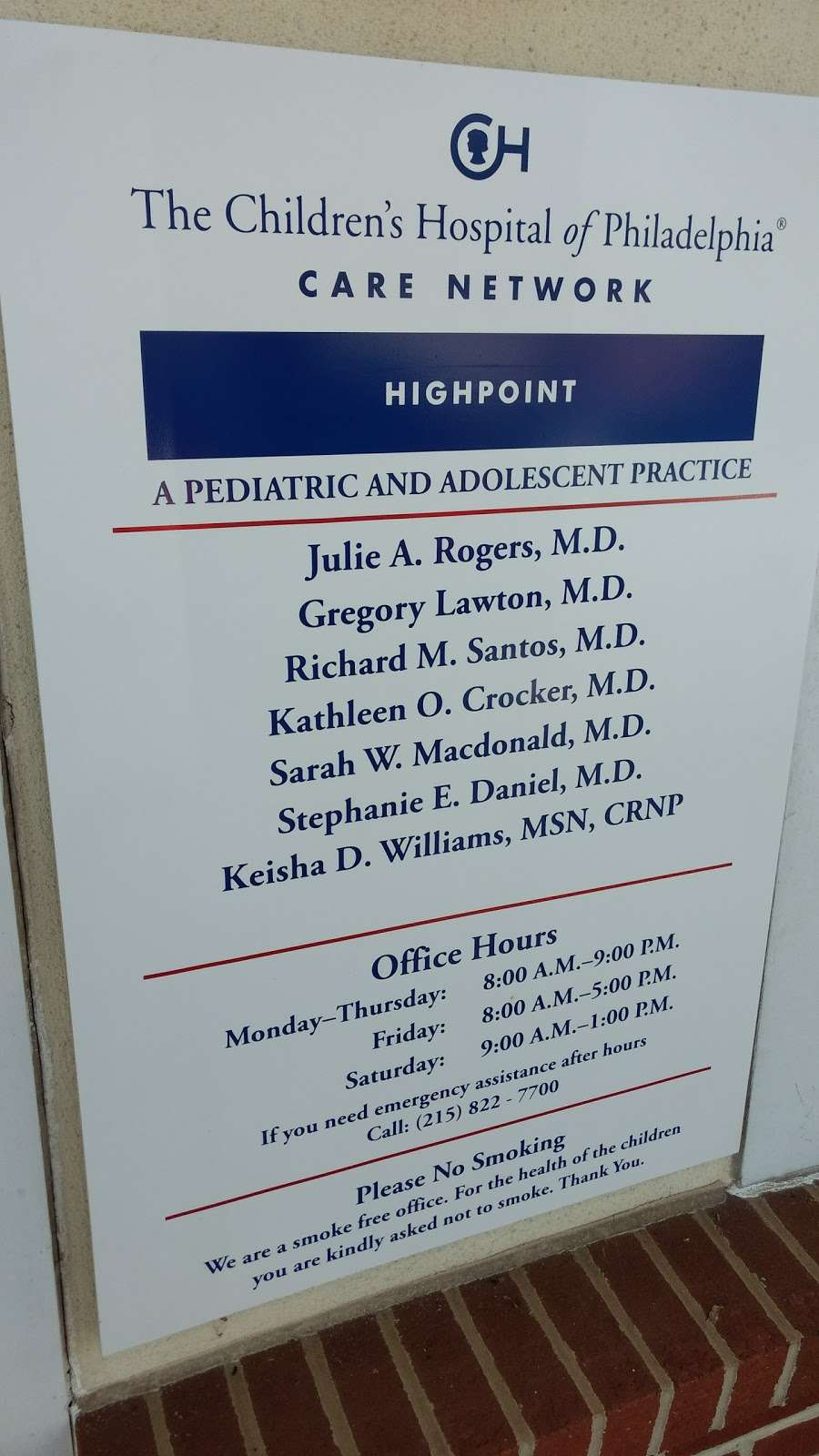CHOP Primary Care, High Point - Doctor | 100 Manor Dr