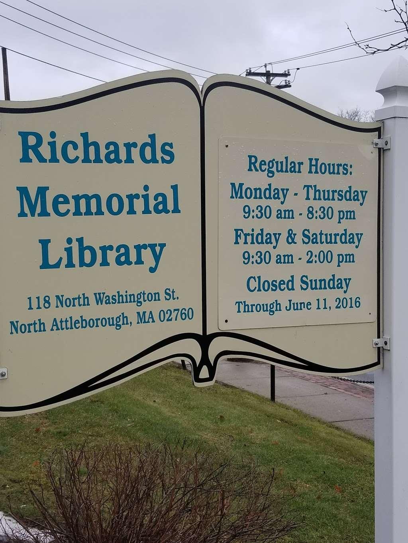 Richards Memorial Library - library  | Photo 5 of 5 | Address: 118 N Washington St, North Attleborough, MA 02760, USA | Phone: (508) 699-0122