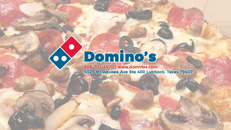 Dominos Pizza - meal delivery  | Photo 1 of 10 | Address: 4525 Milwaukee Ave Ste 400, Lubbock, TX 79407, USA | Phone: (806) 701-4570