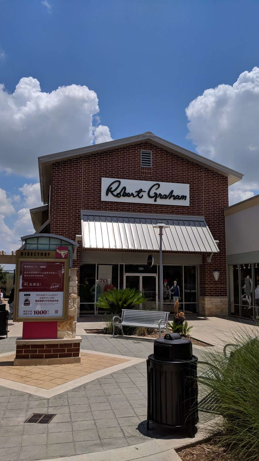 Robert Graham Outlet - clothing store  | Photo 2 of 2 | Address: Houston Premium Outlets, 29300 Hempstead Road, #1201, Cypress, TX 77433, USA | Phone: (281) 256-7429