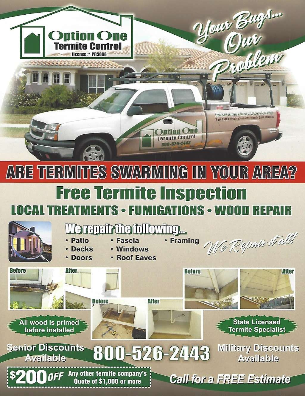 Option One Termite Control - home goods store  | Photo 1 of 3 | Address: 977 Olive St, Upland, CA 91786, USA | Phone: (909) 297-3551