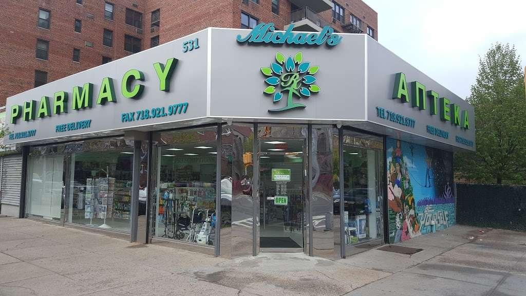Michaels Pharmacy - pharmacy  | Photo 1 of 4 | Address: 531 E 7th St, Brooklyn, NY 11218, USA | Phone: (718) 921-8777