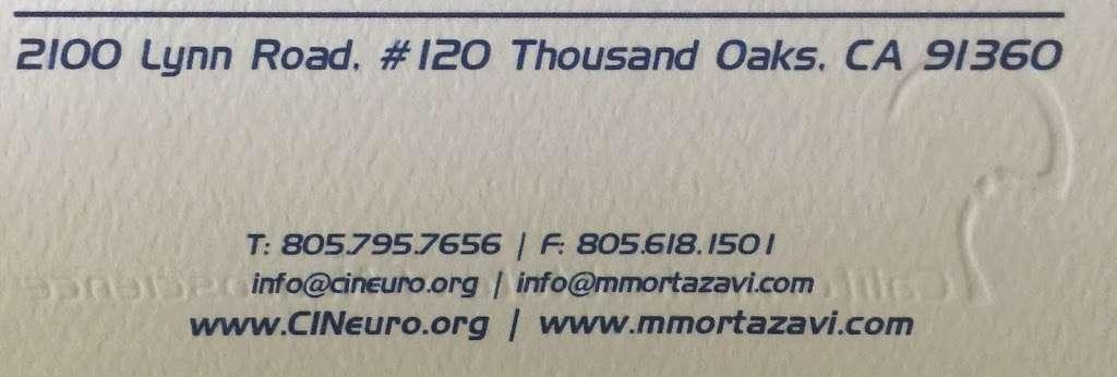 Martin Mortazavi, MD - doctor    Photo 8 of 8   Address: 2100 Lynn Rd #120, Thousand Oaks, CA 91360, USA   Phone: (805) 795-7656