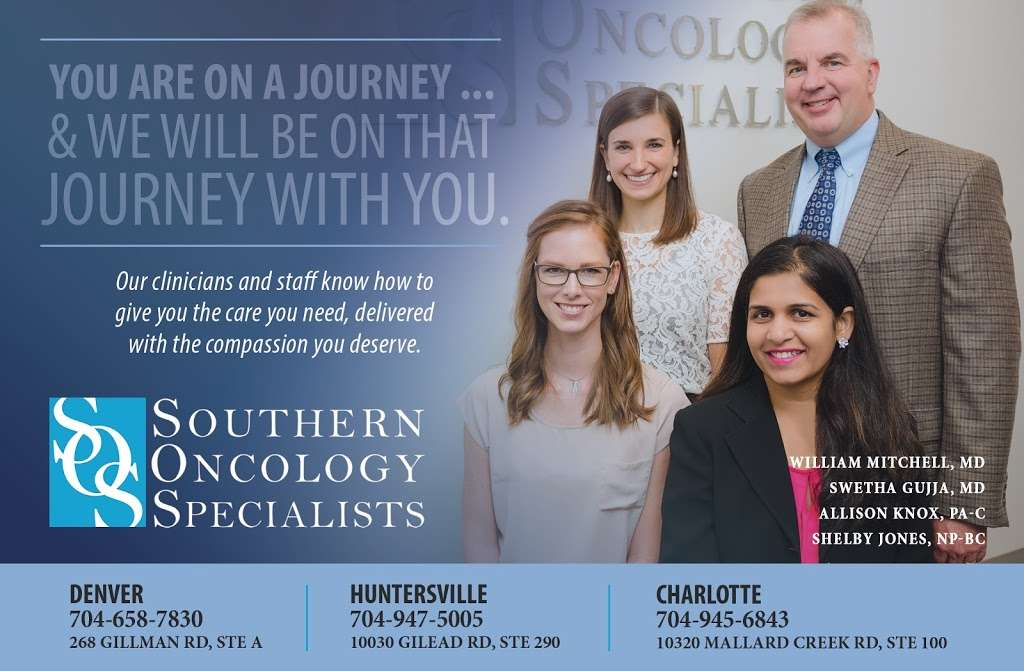 Southern Oncology Specialists - doctor  | Photo 3 of 3 | Address: 268 Gilman Road, Denver, NC 28037, USA | Phone: (704) 659-7830