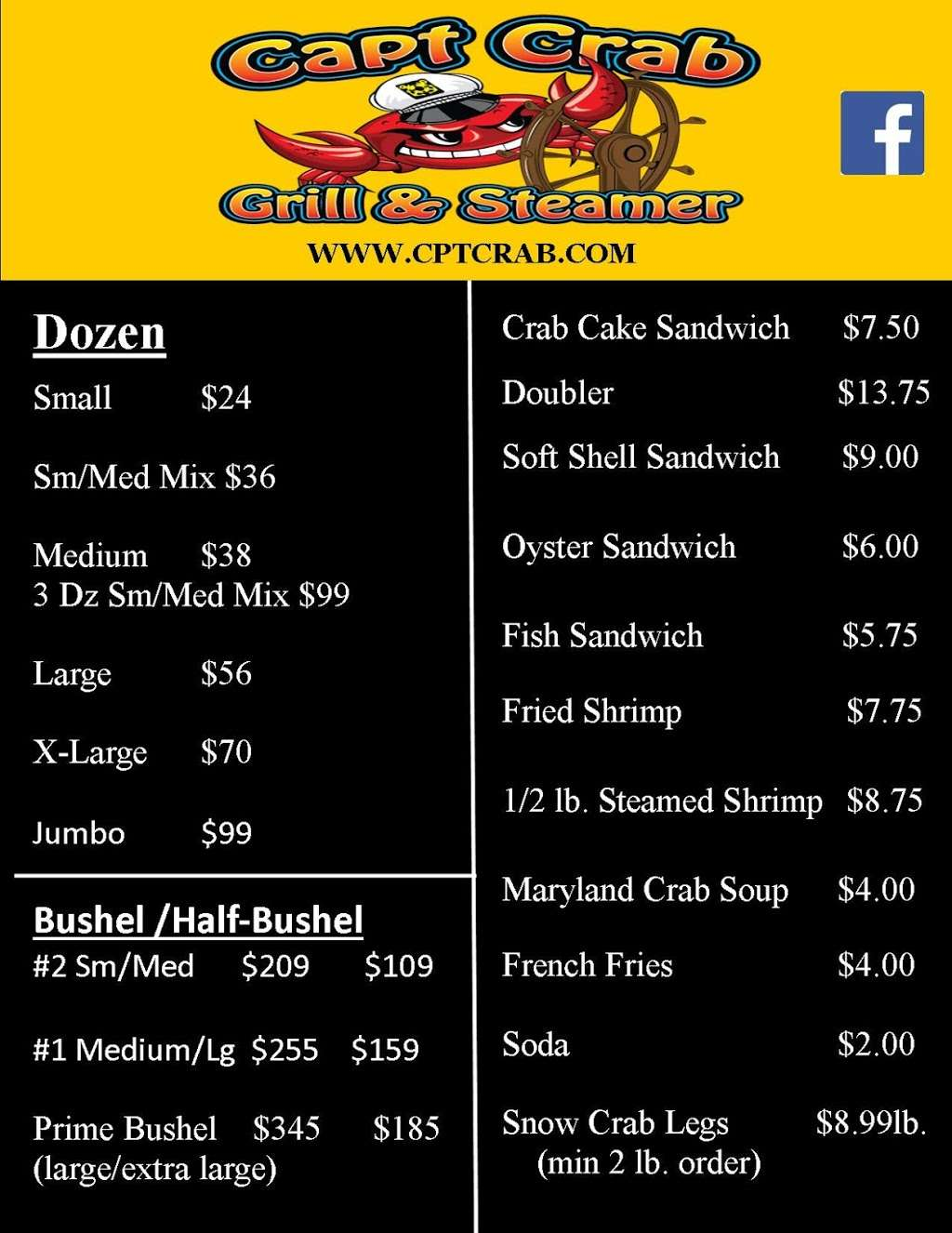 Captain Crab Grill & Steamer - restaurant  | Photo 6 of 8 | Address: 6436 Lincoln Ave, Wrightsville, PA 17368, USA | Phone: (717) 252-2722