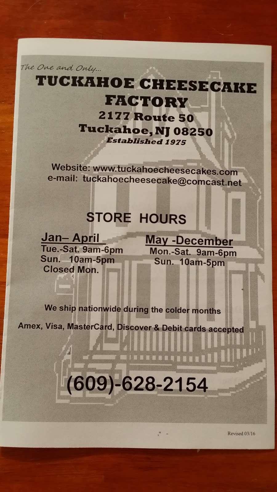 Tuckahoe Cheesecake - bakery  | Photo 9 of 10 | Address: 2177 NJ-50, Tuckahoe, NJ 08250, USA | Phone: (609) 628-2154