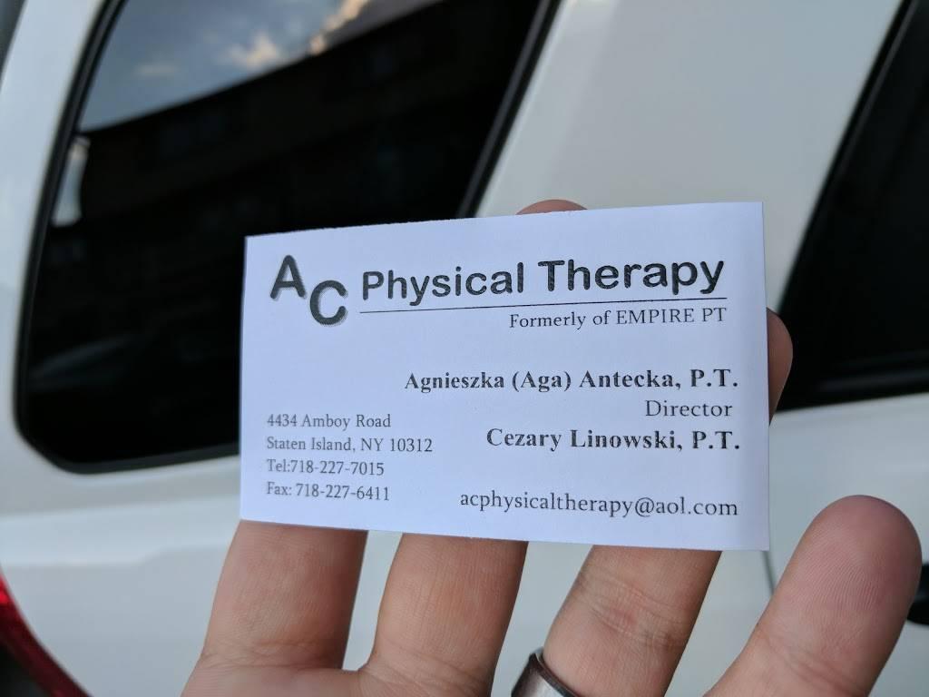 AC Physical Therapy - health  | Photo 3 of 3 | Address: 4434 Amboy Rd, Staten Island, NY 10312, USA | Phone: (718) 227-7015