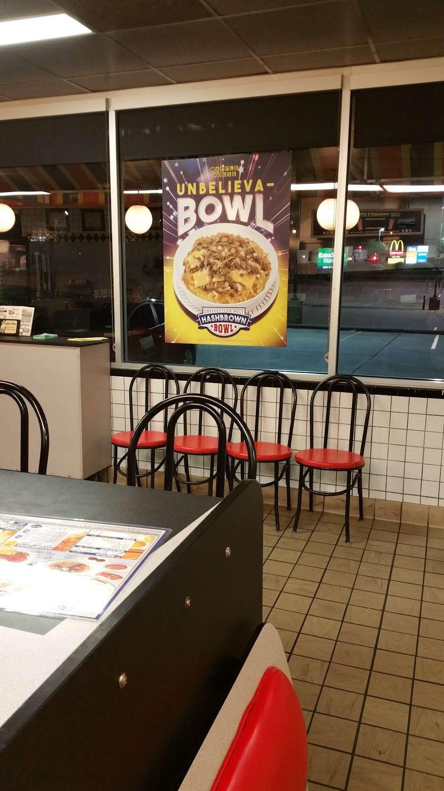Waffle House - meal takeaway    Photo 3 of 10   Address: 1116 League Line Rd, Conroe, TX 77303, USA   Phone: (936) 890-0555