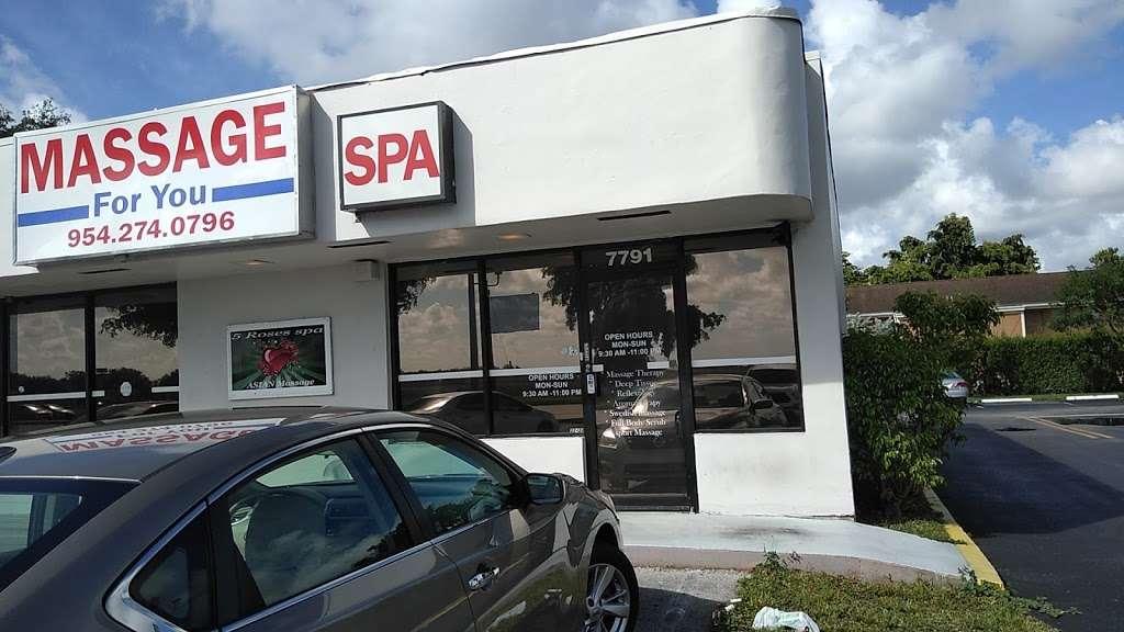 5 Roses Asian Massage & Spa - spa  | Photo 1 of 1 | Address: 7791 Pines Blvd, Pembroke Pines, FL 33024, USA | Phone: (954) 274-0796