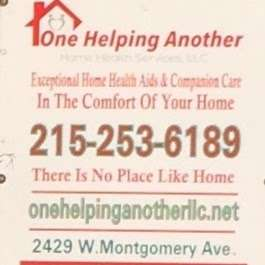 One Helping Another Home Health Services, LLC - health  | Photo 3 of 3 | Address: 2429 W Montgomery Ave, Philadelphia, PA 19121, USA | Phone: (215) 253-6189