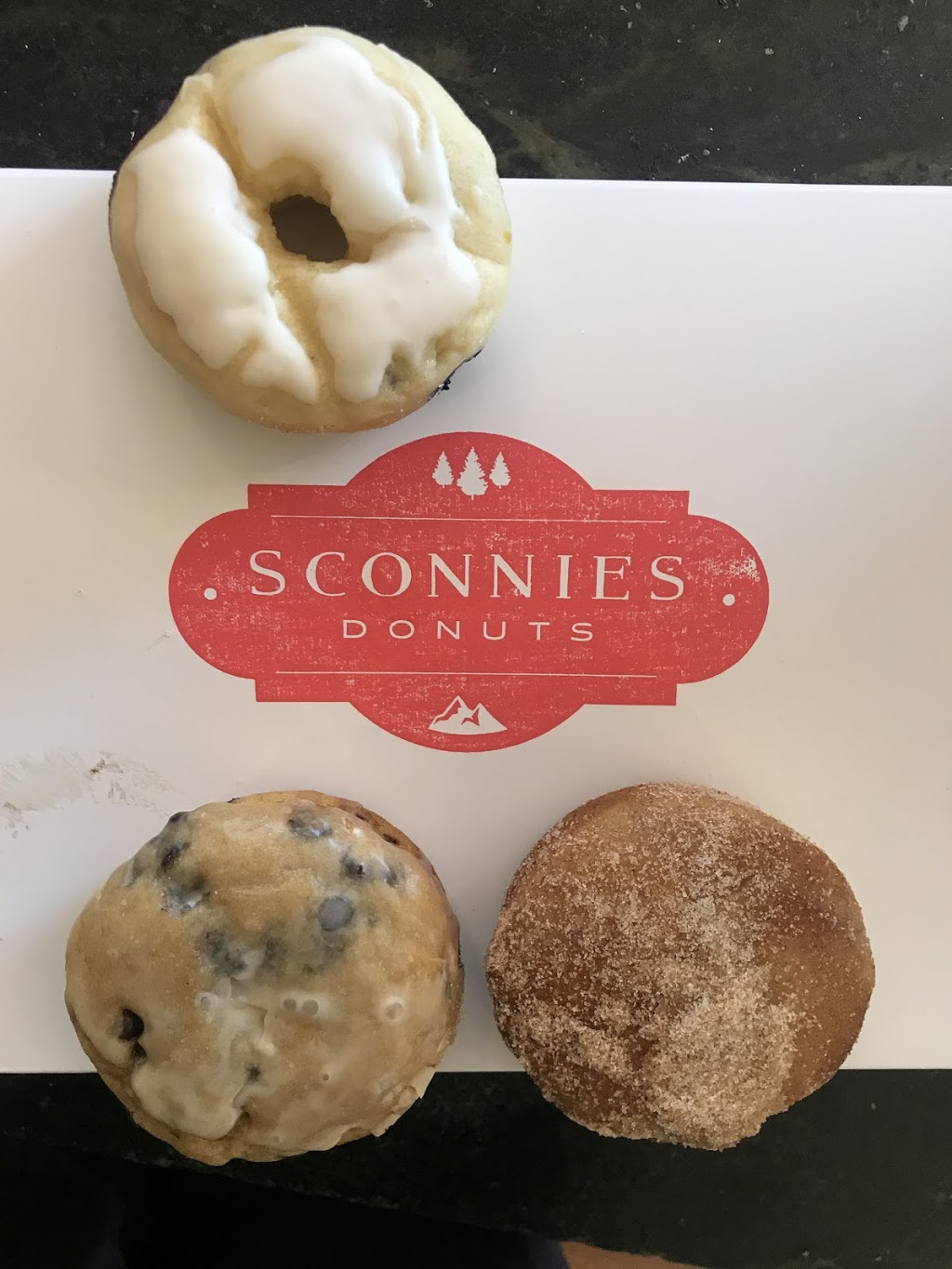 Sconnies Donuts - cafe  | Photo 1 of 2 | Address: 32156 Castle Ct Suite 105, Evergreen, CO 80439, USA | Phone: (303) 484-9066