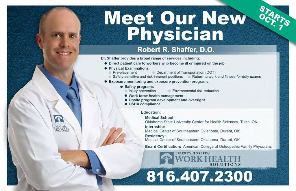 Liberty Hospital Work Health Solutions - doctor  | Photo 3 of 4 | Address: 2521 Glenn Hendren Dr Suite 202, Liberty, MO 64068, USA | Phone: (816) 407-2300