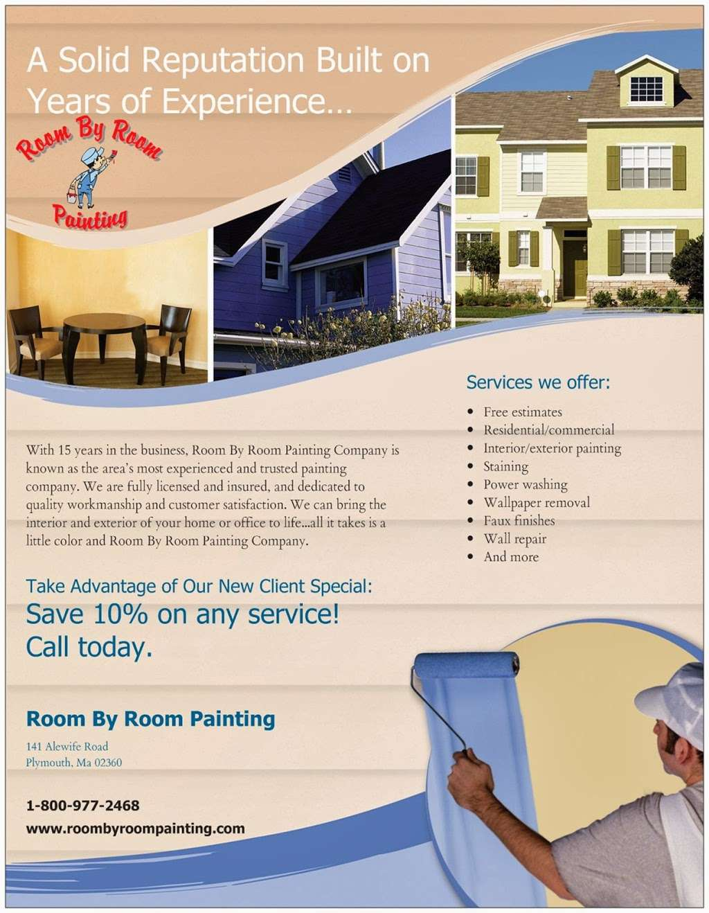 Room By Room Painting - painter  | Photo 2 of 4 | Address: 141 Alewife Rd, Plymouth, MA 02360, USA | Phone: (508) 889-0229