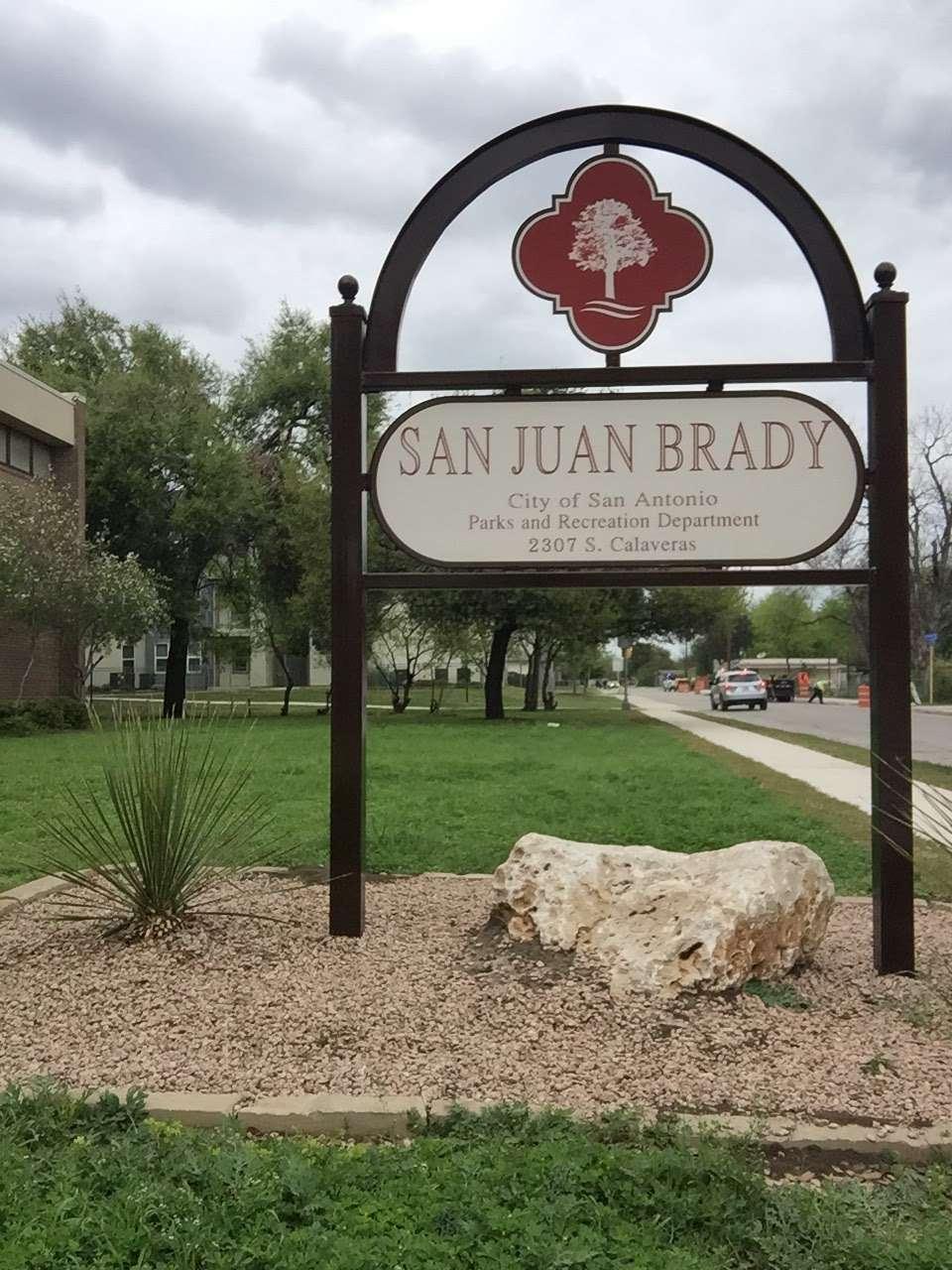 San Juan Brady Park - park    Photo 1 of 9   Address: 2307 S Calaveras St, San Antonio, TX 78207, USA   Phone: (210) 207-7275