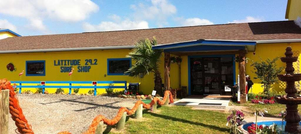 Latitude 29.2 Surf Shop - clothing store  | Photo 1 of 10 | Address: 1406 State Hwy 87, Crystal Beach, TX 77650, USA | Phone: (409) 684-0594