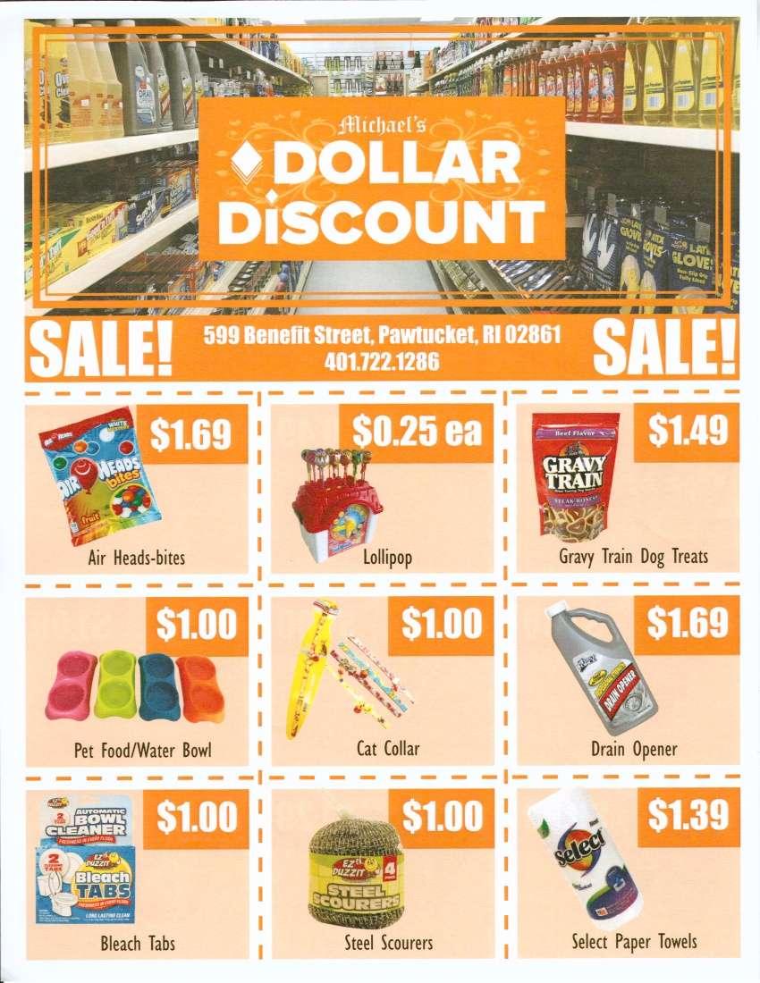 Michaels Dollar Discount - store  | Photo 2 of 2 | Address: 599 Benefit St, Pawtucket, RI 02861, USA | Phone: (401) 722-1286