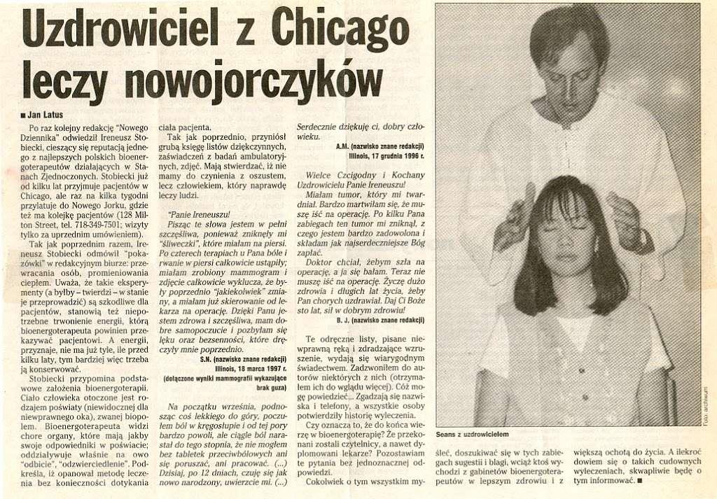 Ireneusz Stobiecki - health  | Photo 4 of 8 | Address: 4202 N Milwaukee Ave, Chicago, IL 60641, USA | Phone: (773) 283-1505