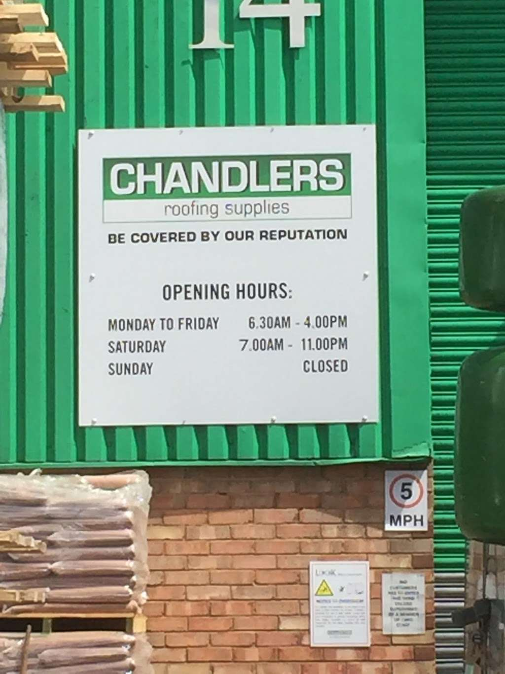 Chandlers Roofing Supplies 14 Gateway Industrial Estate Hythe Road White City London Nw10 6rj Uk