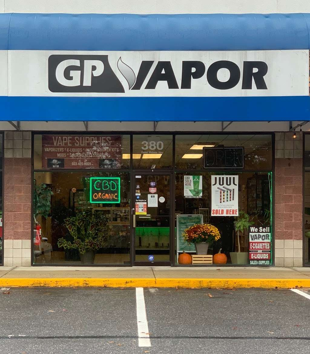 GP Vapor Vape Supplies, Smoking Accessories & CBD - store  | Photo 3 of 8 | Address: 380 Daniel Webster Hwy, Merrimack, NH 03054, USA | Phone: (603) 420-8005